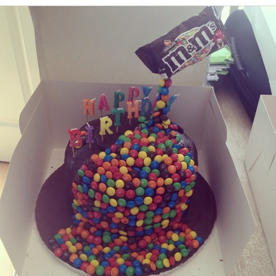 M And M Gravity Cake Recipe