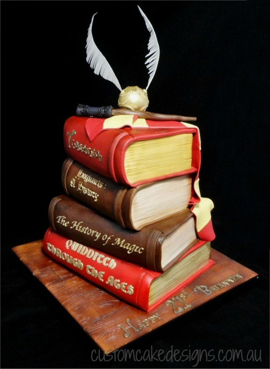 Harry Potter Book Cake : Harry potter stacked books cake cakecentral