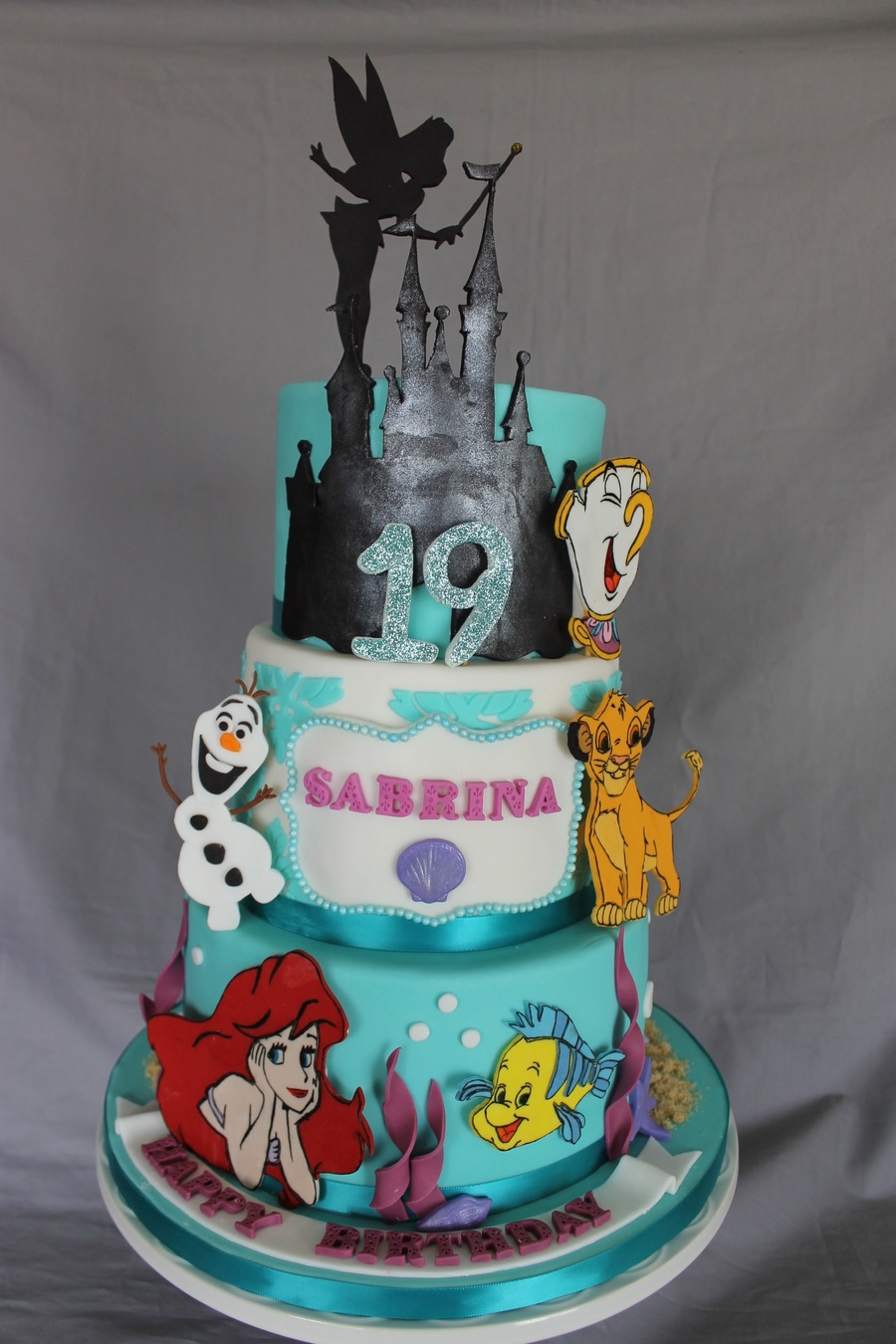 Disney Cake Decorating Ideas : Disney Themed Birthday Cake - CakeCentral.com