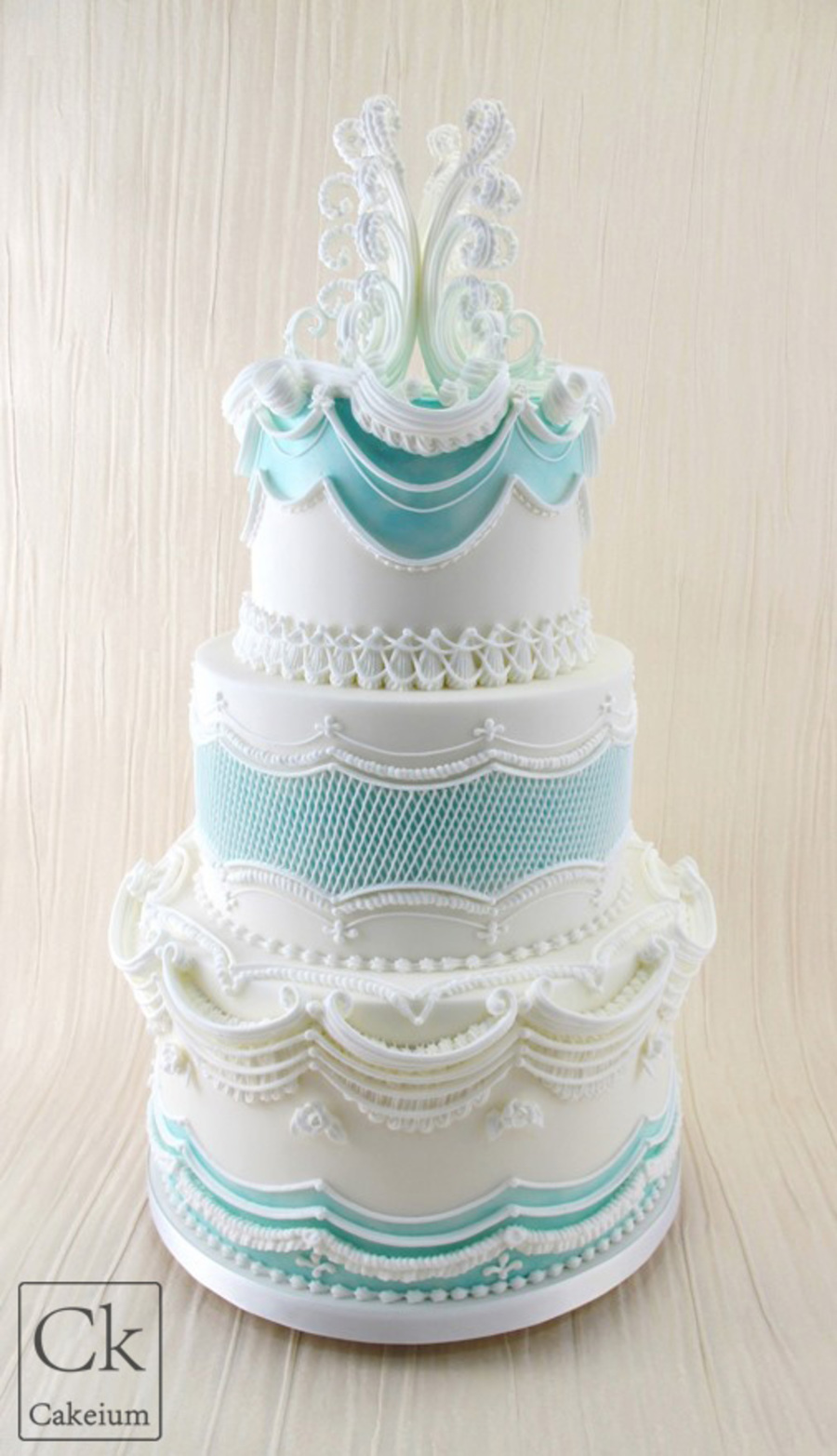 Lambeth Inspired Wedding Cake - CakeCentral.com