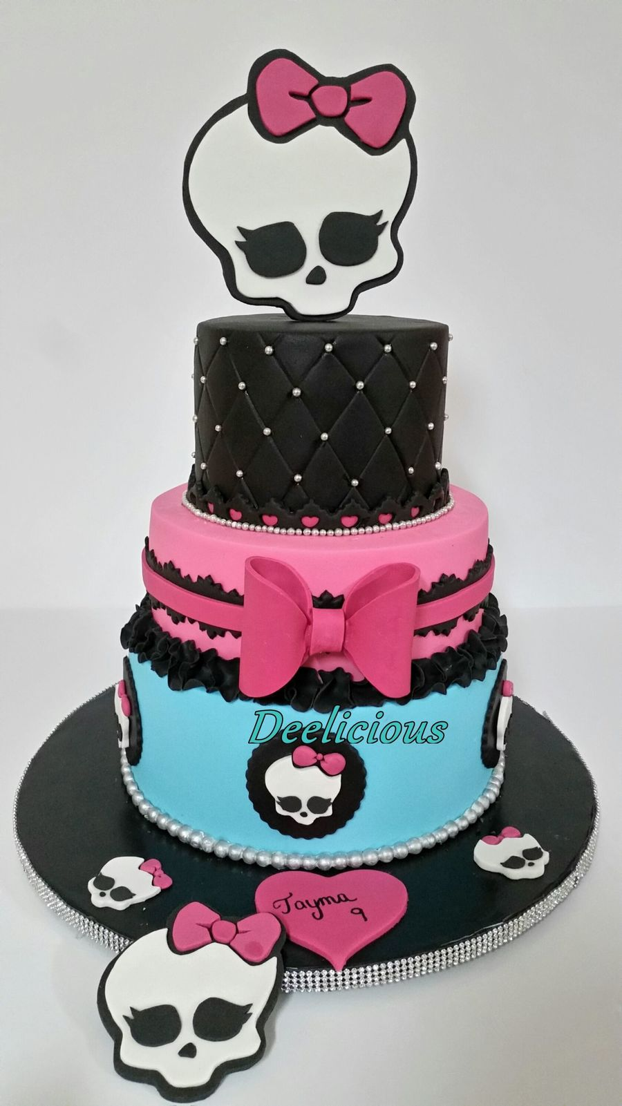 Monster High Fondant Birthday Cake