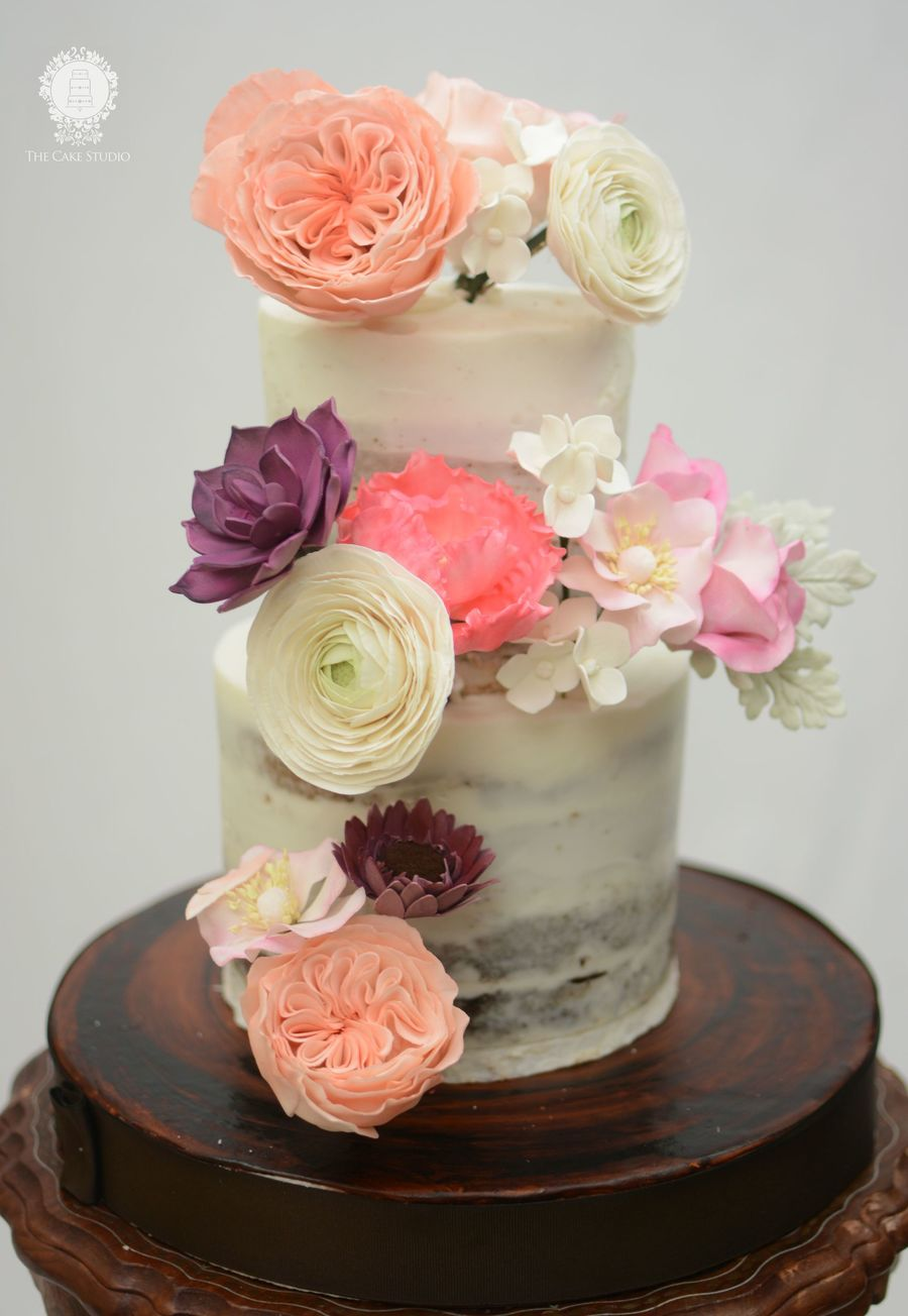 Naked Cake With Sugar Flowers Cakecentral Com