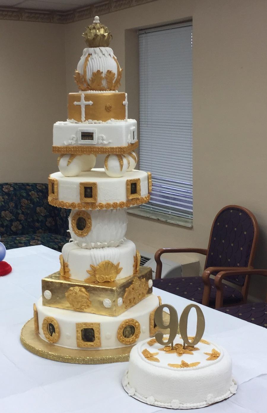 Peachy 90Th Birthday Cake Cakecentral Com Funny Birthday Cards Online Ioscodamsfinfo
