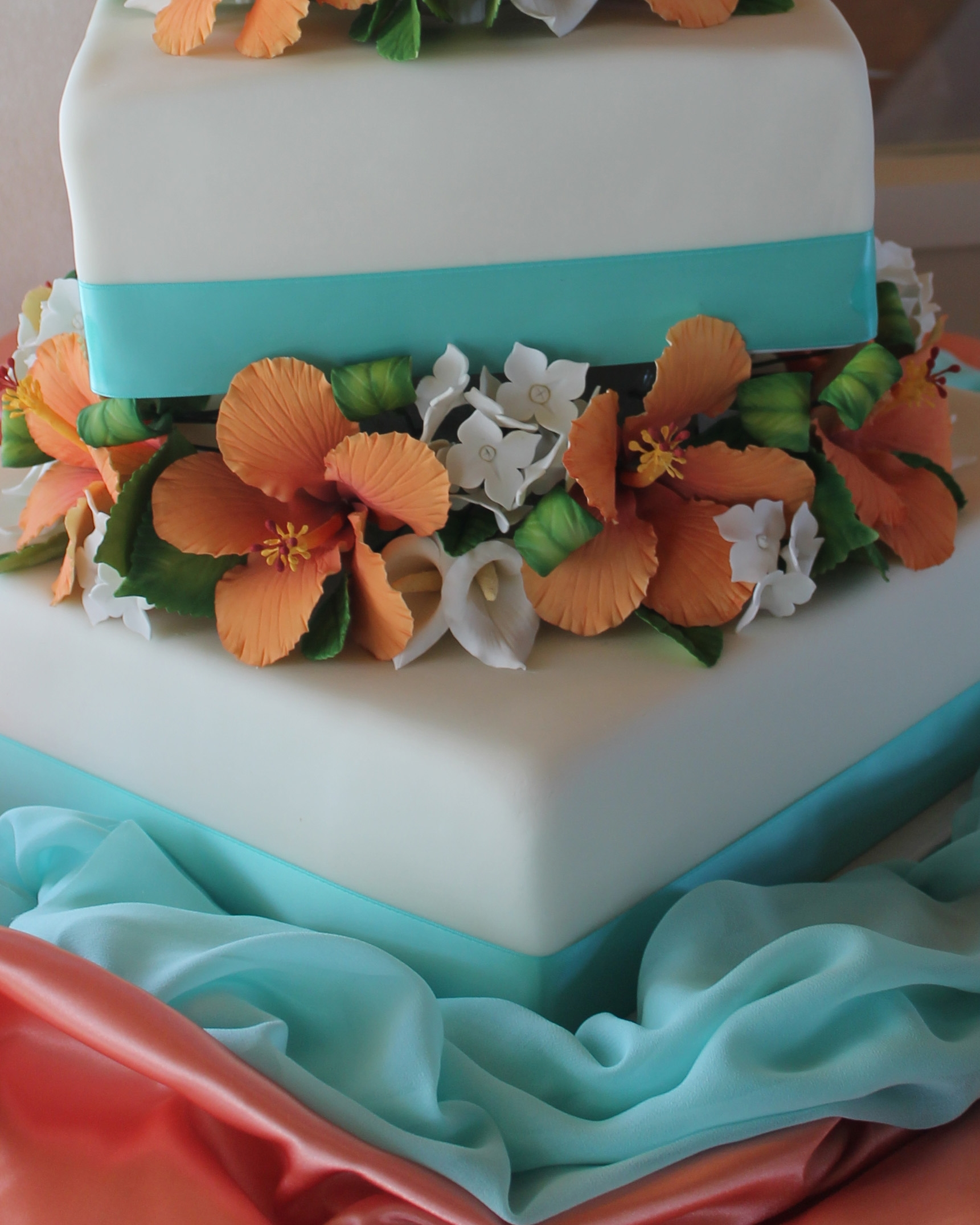 Hibiscus Wedding Cake Cakecentral
