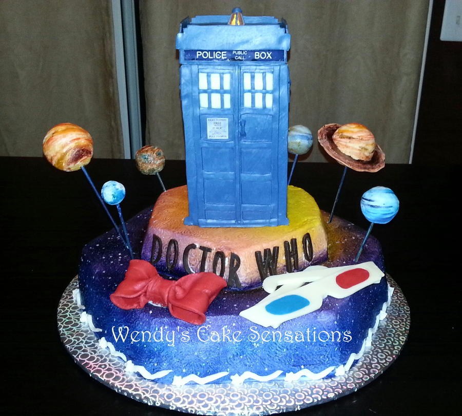 Dr Who Tardis Birthday Cake Cakecentral