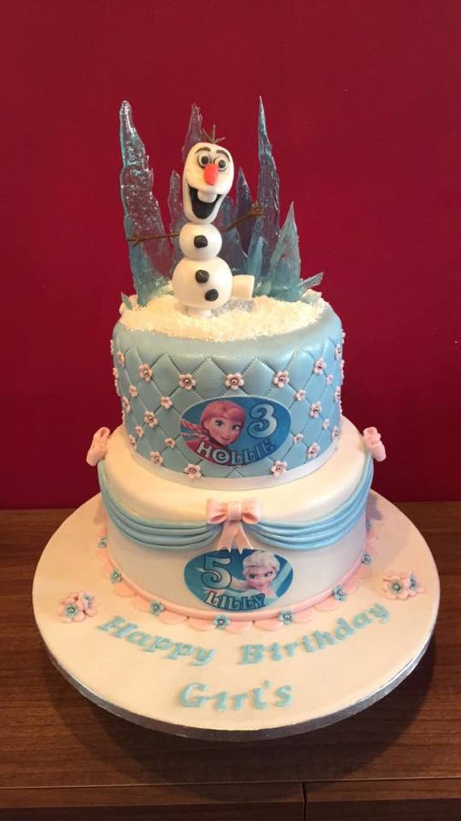 Disney Frozen Birthday Cake For Sisters Cakecentral Com