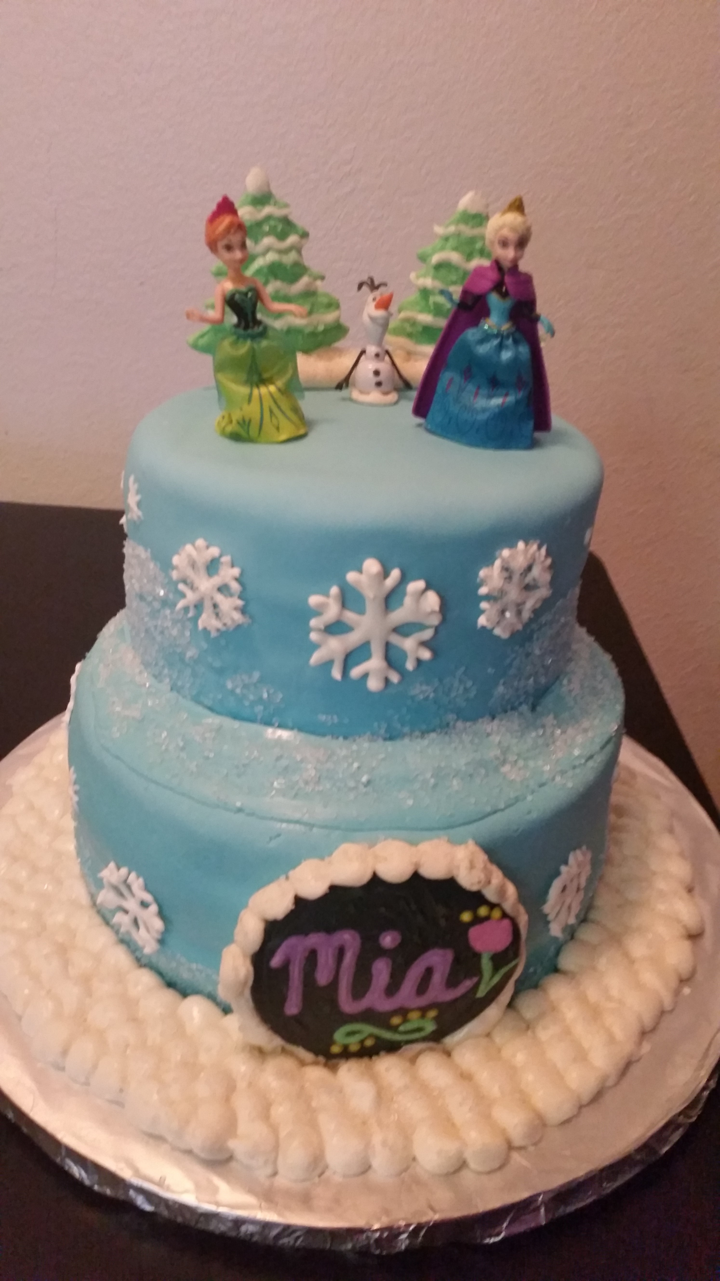 Disneys Frozen Cake Elsa Anna Olaf CakeCentralcom