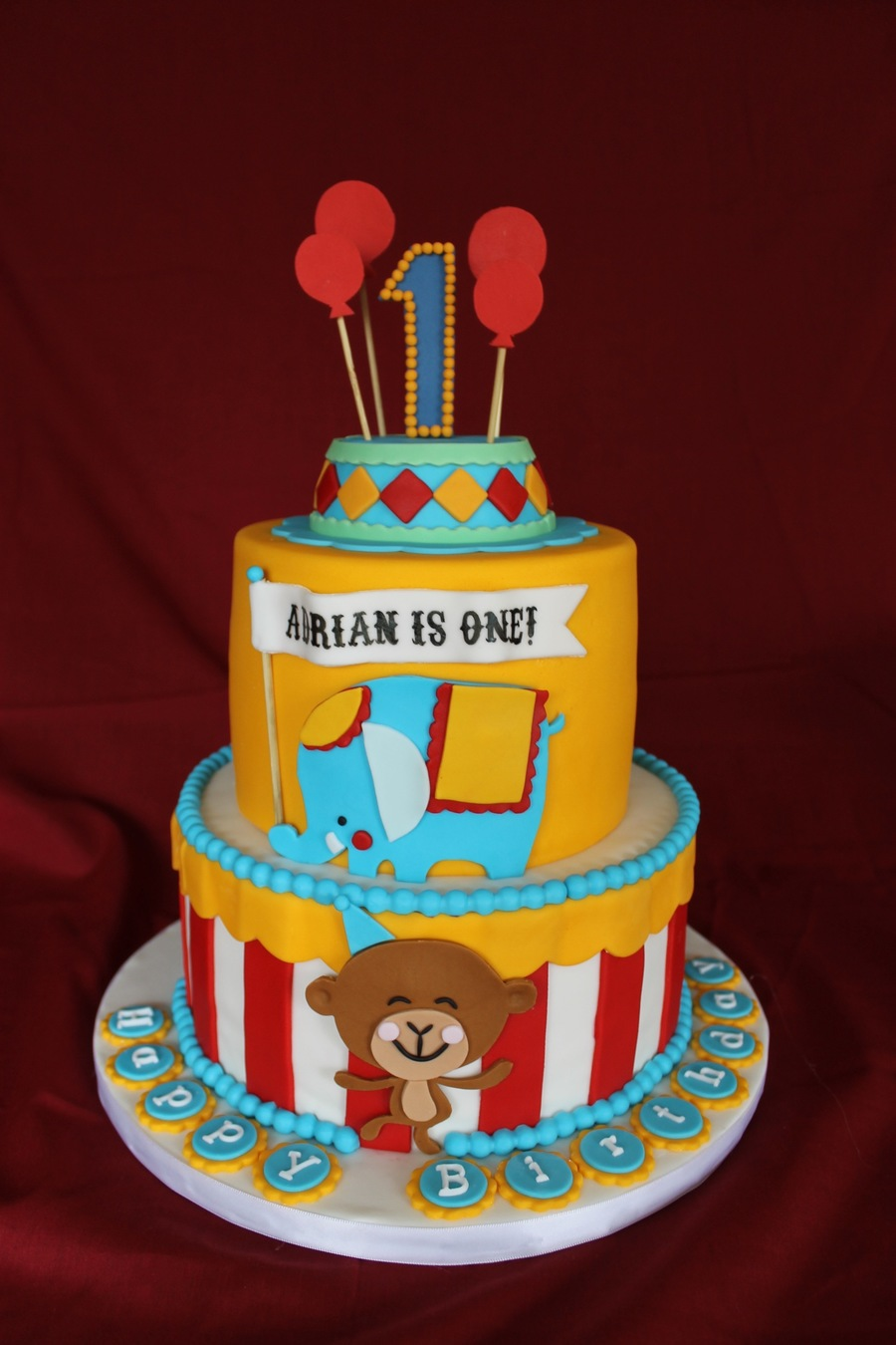 Circus Themed Birthday Cake Cakecentral