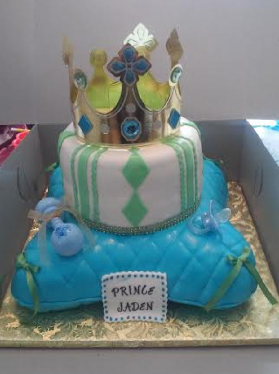 2 Tier Royal Prince Themed Baby Shower Cake Cakecentral Com