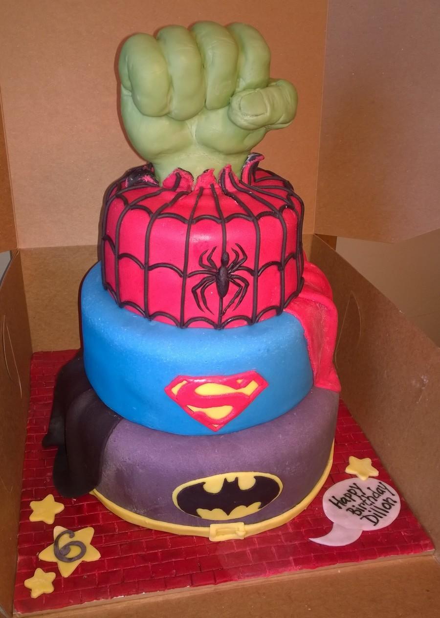 Super Hero Hulk Smash Cake Cakecentral Com