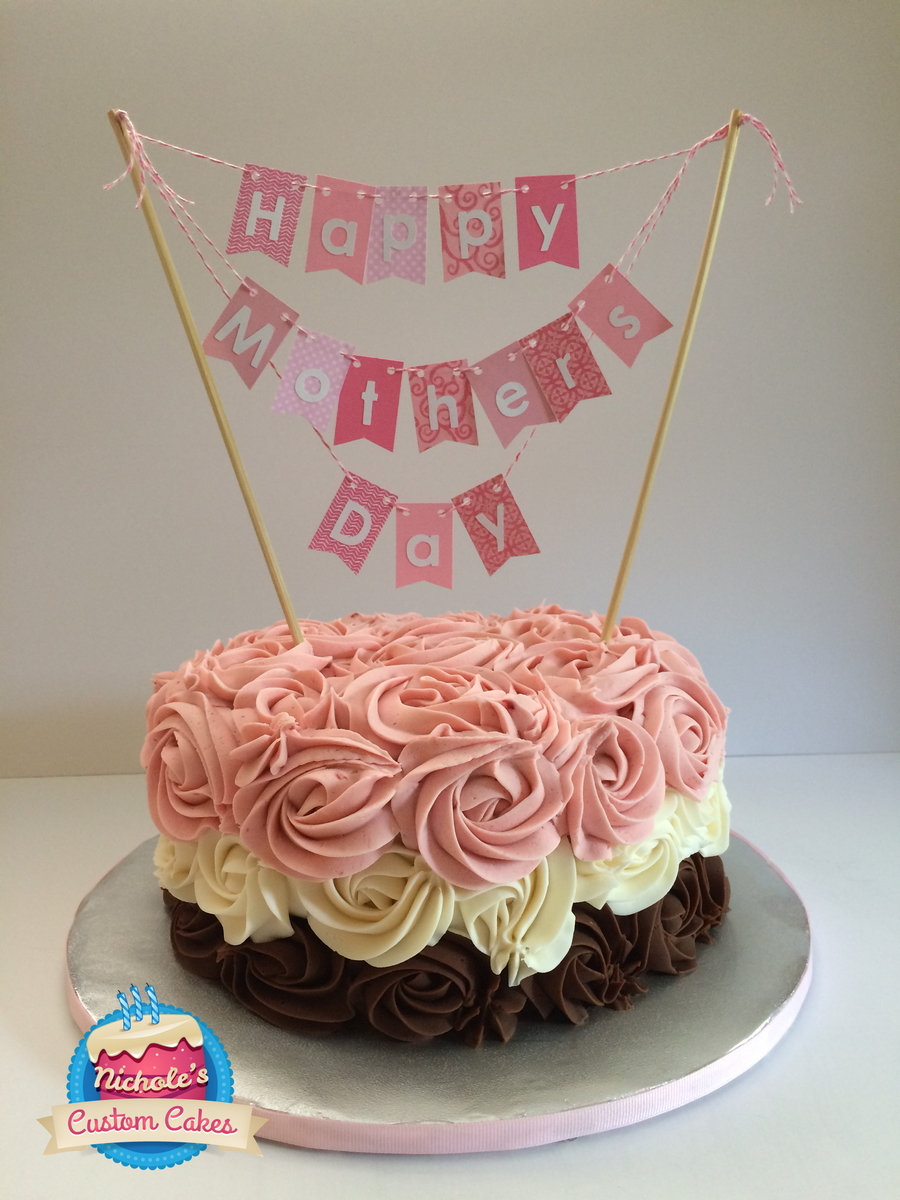 Mother S Day Rosette Cake Cakecentral Com