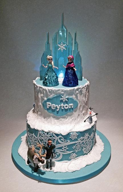 Frozen Cake With Isomalt Castle Cakecentral Com