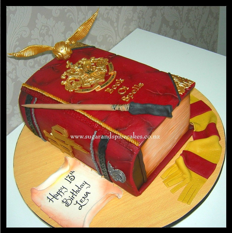 Harry Potter Book Of Spells Cake Cakecentral Com