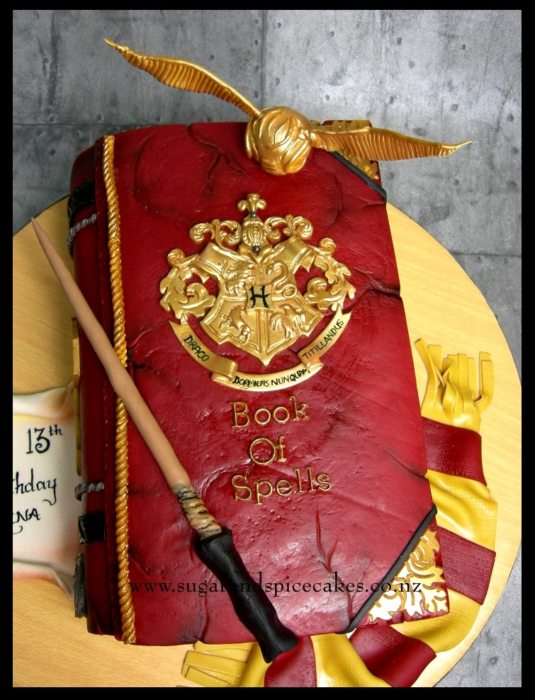 Harry Potter Book Of Spells : Harry potter book of spells cake cakecentral
