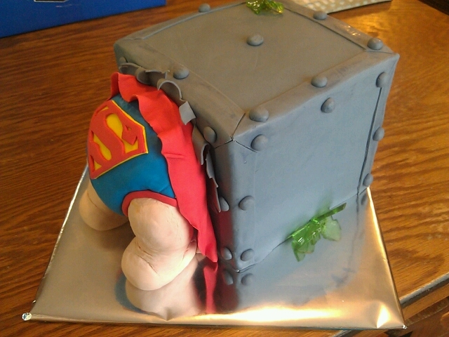 baby in a gift box shower cakes i 39 ve been seeing dad loves superman