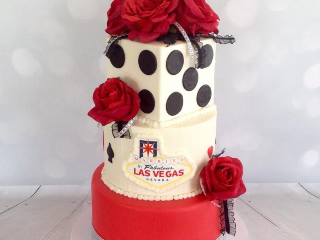 Vegas Themed Wedding Cake - CakeCentral.com