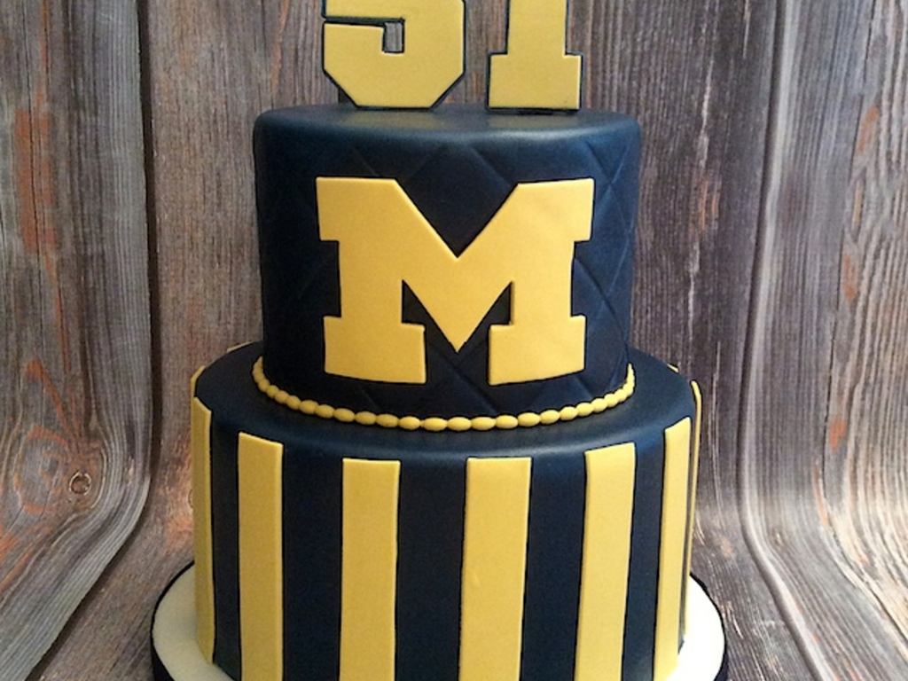 University Of Michigan Anniversary Cake - CakeCentral.com
