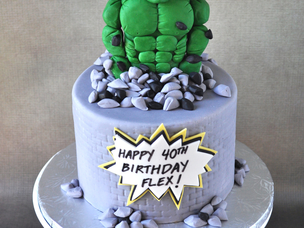 Hulk Birthday Cake CakeCentralcom