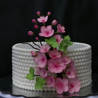 Cherry Blossom Cherry blossom cake - the flowers are made with gum paste