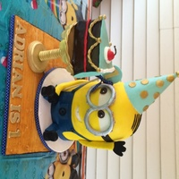 Minion Birthday Cake This design is based off one the client showed me from another baker. I am not sure who or I would give credit. It is a vanilla cake with...