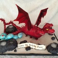 Dragon Cake I made this Deadly Shadow dragon cake for my daughter's 9th birthday. He has three heads (the eyes on the middle head light up), two...