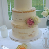Semi Naked Cake Vanilla and IMBC semi naked cake for a garden wedding, the bride was lovely and nominated me for a national bridal award for my work on her...