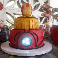 Ironman Lightup Cake LIGHTS UP