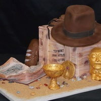 Indiana Jones Groom's Cake   For a big Indiana Jones fan. All edible, all hand sculpted, modeling chocolate and fondant