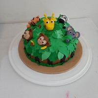Jungle Animals Cake I made this cake for my son on his 8th Birthday Party at School ...