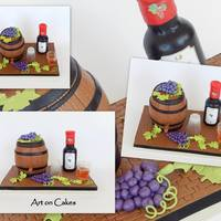 Wine Barrel Cake... All items are edible…