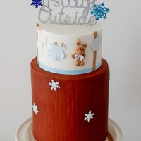 Baby It's Cold Out Side Baby Shower Cake! For a dear friend who's having a baby shower with the theme 'Baby It's Cold Outside' because its...