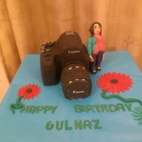 Camera Cake A cake made for a photography enthusiast my first carved cake and first standing figure
