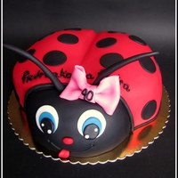 Ladybug   Playful cake for 40th birthday for man