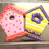 Birdhouse Cookies   Simple Birdhouse cookies. Tutorial at