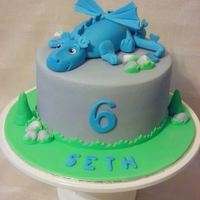 "Dragon Cake This was an 8"" chocolate cake covered in fondant with the dragon made from fondant ."