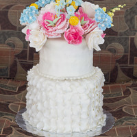 Dummy Wedding Cakes. I did these cakes for an expo. Was having difficulties finding styrofoam dummies as i am located in the caribbean. so i searched online and...