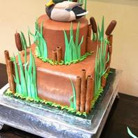 Duck Hunting Themes Grooms Cake The bride asked for a hunting theme grooms cake.