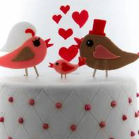 Love Birds wedding cake inspired by the invitation