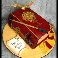 Harry Potter - Book Of Spells Cake Harry Potter – Book of Spells Cake I loved doing this one. I decided to do the shield in 2d and actually make it rather than the...