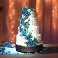 Floral Wedding Cake I made this cake for a friend of mine.