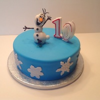 Olaf Cake Olaf made of gum paste
