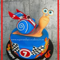 "Turbo Snail Cake Turbo Snail Cake ""No dream is too big, and no dreamer is too small.""I loved making this little guy! He wasn't..."
