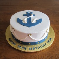 Nautical Anchor Cake A cake I made for my father-in-law's 75th birthday party. Thanks for looking!