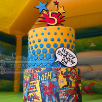 Comic Book Cake I Love Superheroes!