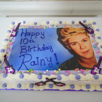 Niall Horan One Direction Bday Cake   My daughter's favorite guy on her birthday cake.