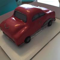 Car Cake 3D car cake covered in fondant