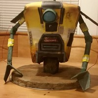 Claptrap Cake   3D carved Borderlands Claptrap cake