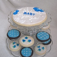 Pretty In Blue Cookies I made these cookies for my good friend's baby shower. Her favorite color is blue and she is expecting a baby boy, so of course we...
