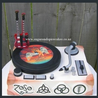 Led Zeppelin Cake Led Zeppelin cake for my ROCKer I made this cake for my love and husband. He's a cool dude and a Rocker! He loves Led Zeppelin...