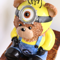 Minion Cake Ideas This little buddy, Minion meets Build a Bear Tutorial on our blog http://www.creativecakeart.com/bites/minion-cake-idea/